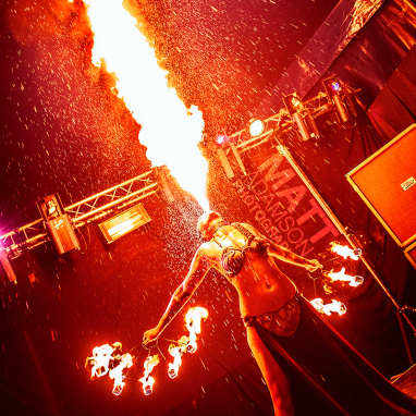 Jenny Miller Rocks - Princess Leia Star Wars fire show @ Bloodstock Open Air Festival 2015